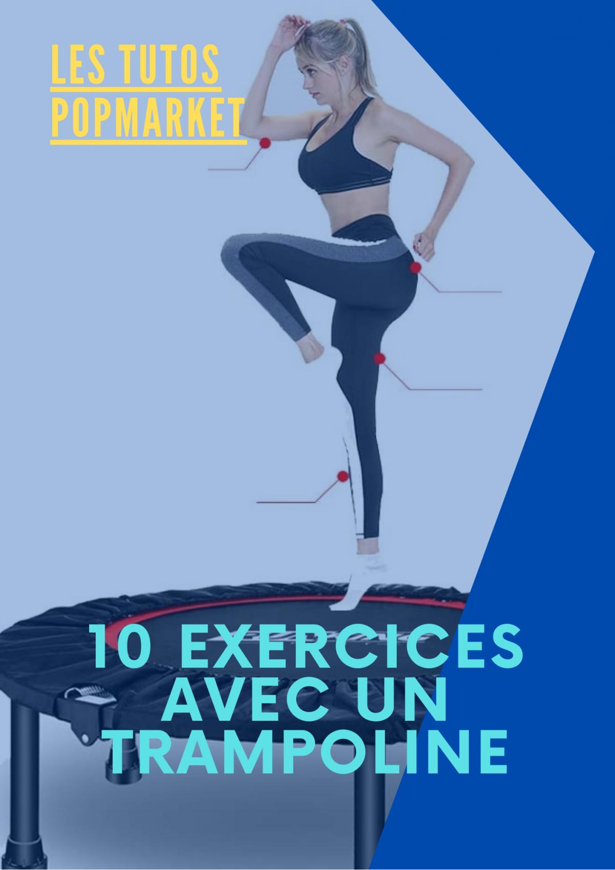10 exercices à faire avec un trampoline